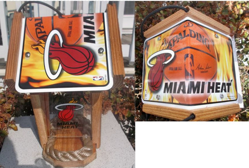 Miami Heat License Plate Roof Bird Feeder