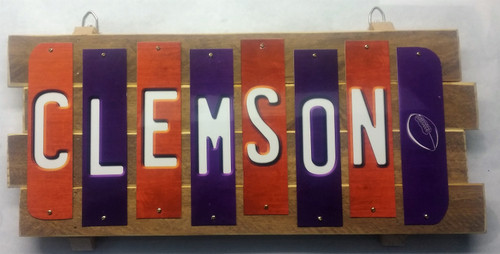 Clemson Fun Strip Sign