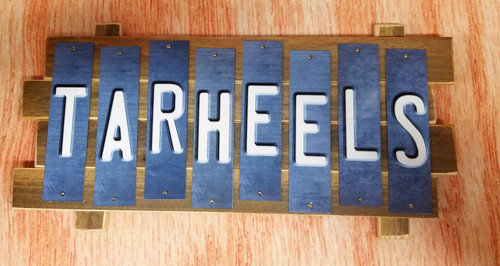 TARHEELS  Fun Strip Sign (style 2)