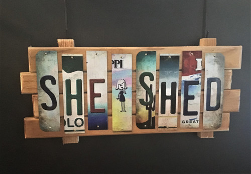 SHE SHED Strip Sign