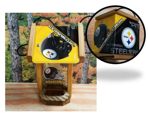 Pittsburgh Steelers License Plate Roof Bird Feeder (SI series)