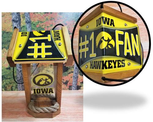 Iowa Hawkeyes #1 Fan License Plate Roof Bird Feeder