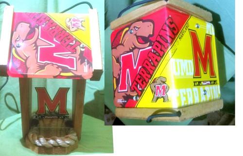 Maryland University License Plate Roof Bird Feeder (SI series)