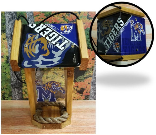 Memphis Tigers License Plate Roof Bird Feeder (SI series)