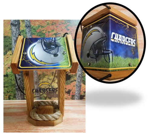 LA Chargers  License Plate Roof Bird Feeder