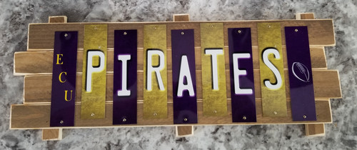 ECU Pirates Fun Strip Sign