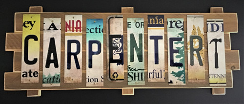 CARPENTER STRIP SIGN