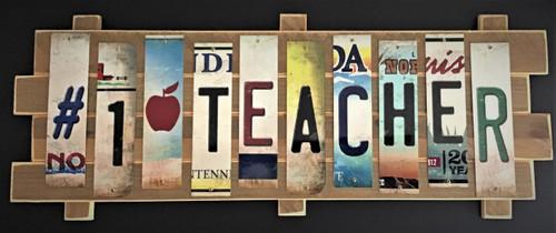 #1 TEACHER STRIP SIGN