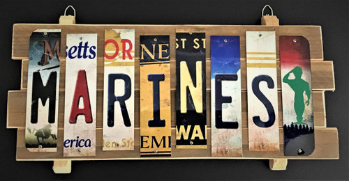 MARINES STRIP SIGN