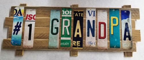 #1 GRANDPA STRIP SIGN