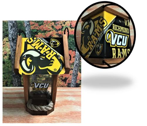 VCU Virginia Common Weath University (Rams) License Plate Roof Bird Feeder (SI Series)
