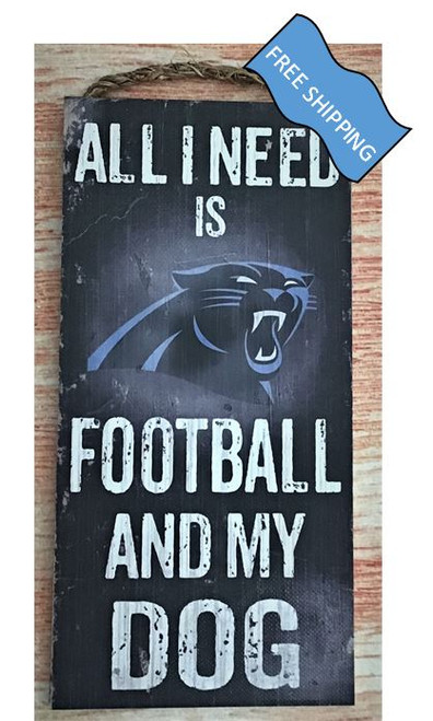 Carolina Panthers (Football & My Dog) Sign