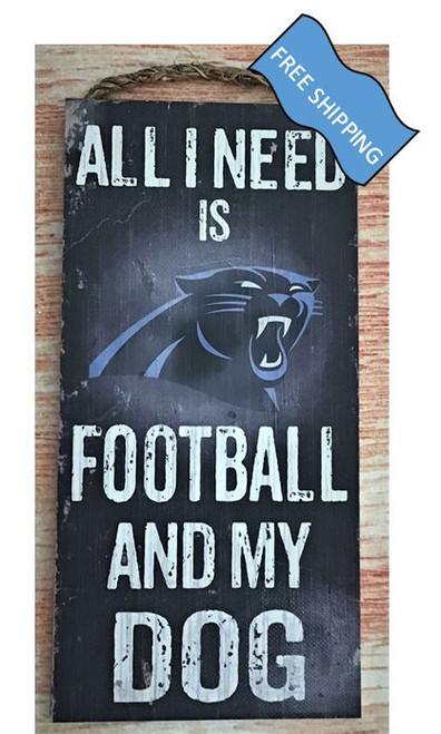 Carolina Panthers (Football & My Dog) Sign