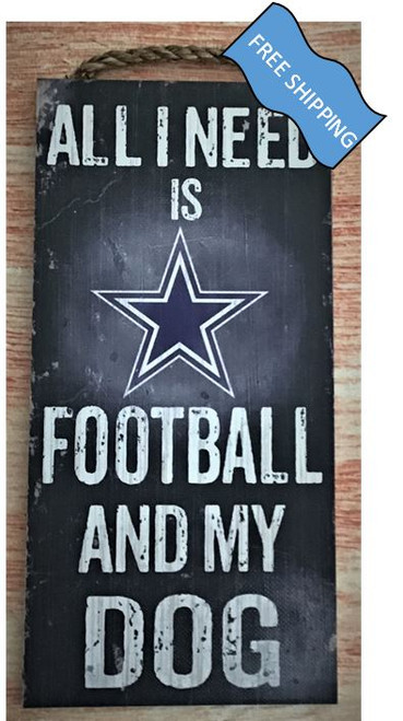 Dallas Cowboys (Football & My Dog) Sign
