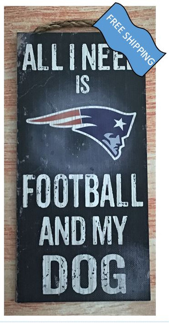 New England Patriots (Football & My Dog) Sign