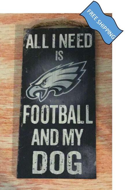 Philadelphia Eagles (Football & My Dog) Sign