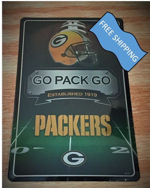 Green Bay Packers Large Metal Sign