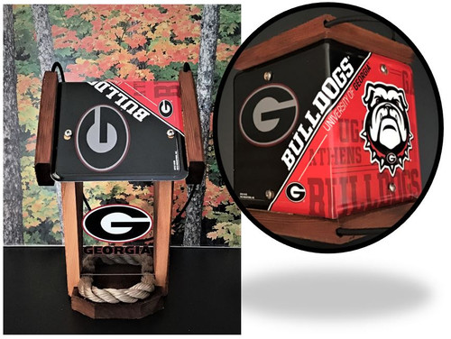 Georgia Bulldogs License Plate Roof Bird Feeder (SI Series)