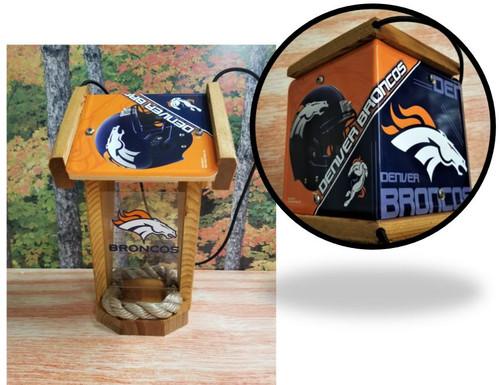 Denver Broncos License Plate Roof Bird Feeder (SI Series)