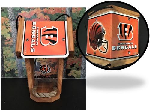 Cincinnati Bengals  License Plate Roof Bird Feeder