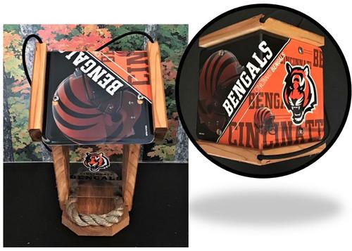 Cincinnati Bengals  License Plate Roof Bird Feeder (SI Series)