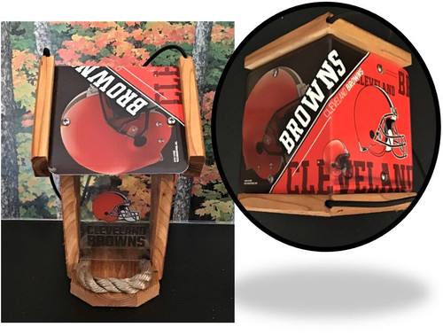 Cleveland Browns License Plate Roof Bird Feeder (SI Series)