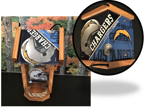 LA Chargers Fan License Plate Roof Bird Feeder (SI Series)