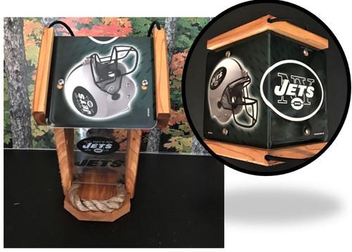 New York Jets  License Plate Roof Bird Feeder