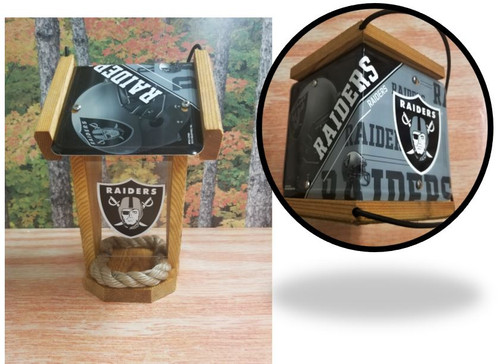 Oakland Raiders License Plate Roof Bird Feeder (SI Series)