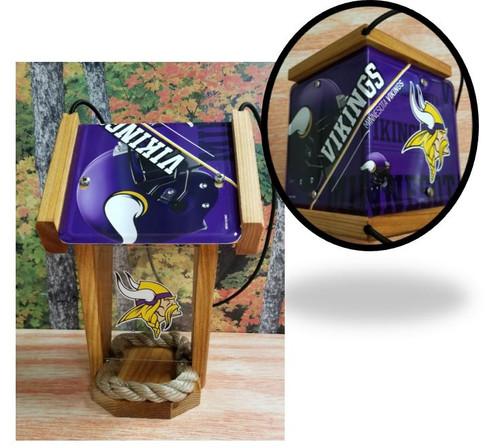 Minnesota Vikings License Plate Roof Bird Feeder (SI Series)