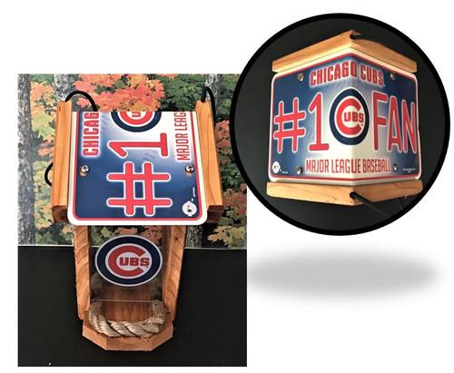 Chicago Cubs #1 Fan Cedar Bird Feeder