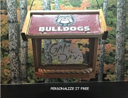 Georgia Bulldogs Deluxe Cedar Two Sided Bird Feeder