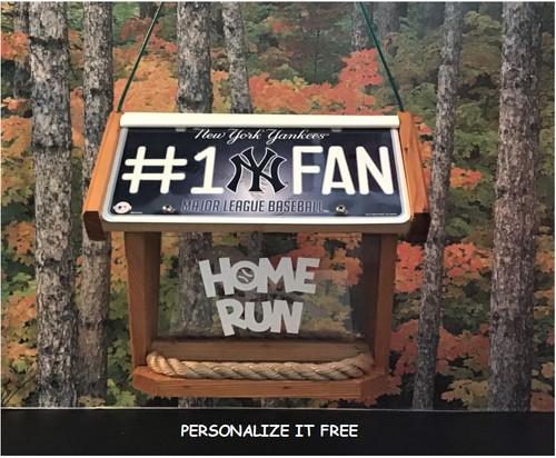 New York Yankees #1 Fan Deluxe Cedar Two Sided Bird Feeder