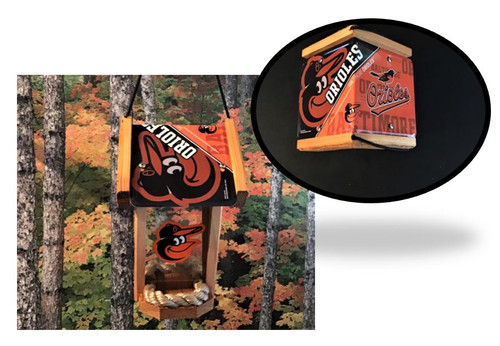 Baltimore Orioles License Plate Roof Bird Feeder (SI Series)