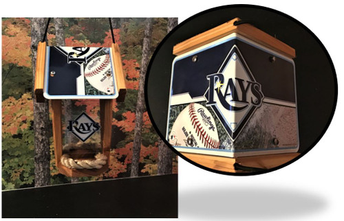 Tampa Bay Rays License Plate Roof Bird Feeder