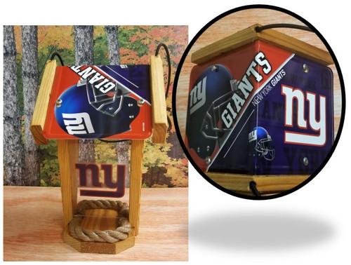New York Giants License Plate Roof Bird Feeder (SI Series)