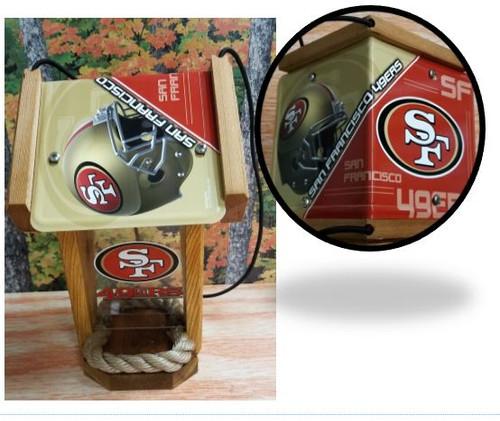 San Francisco 49ers License Plate Roof Bird Feeder (SI Series)