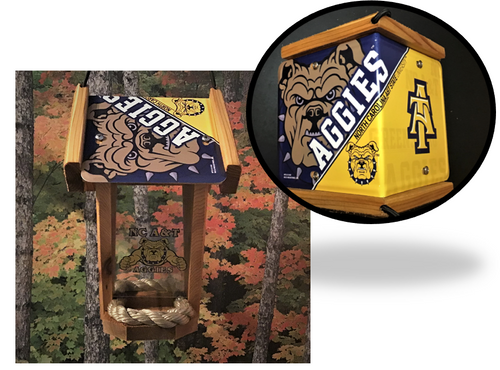NC A&T State University (Aggies) Plate Roof Bird Feeder (SI Series)