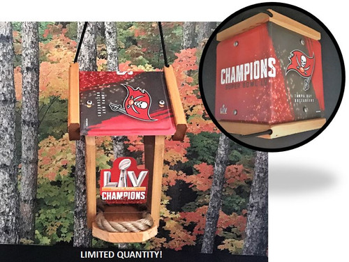 Tampa Bay Buccaneers Super Bowl Championship Two-sided License Plate Roof Bird Feeder