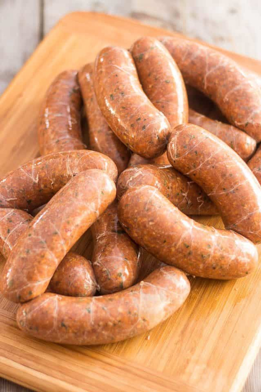 A.C.LEGG OLD PLANTATION Hot Italian Sausage Seasoning Blend 103  Contains some crushed red pepper to give a little extra zing.