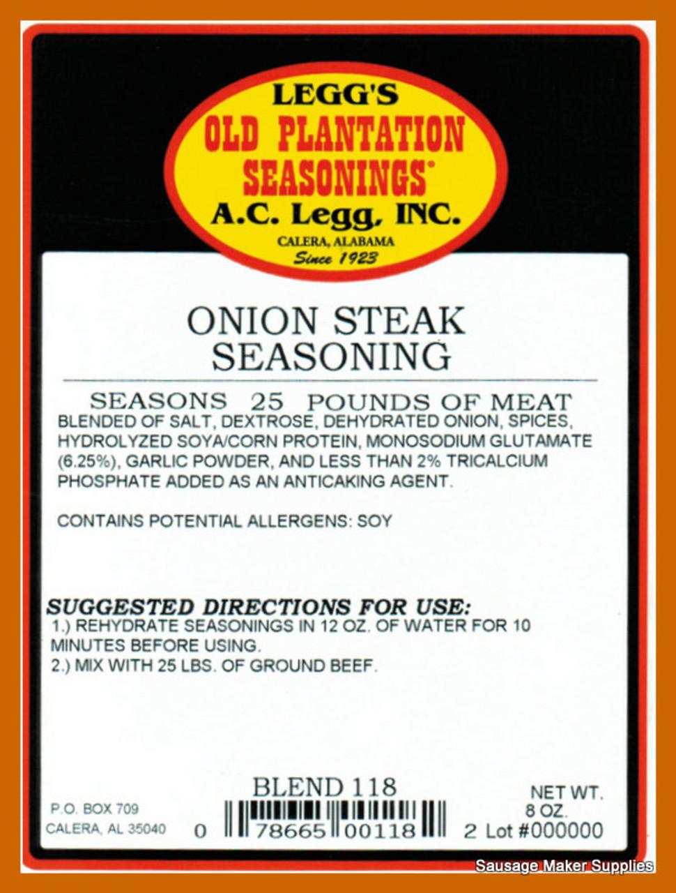 A.C. LEGGS OLD PLANTATION Onion Steak Blend 118