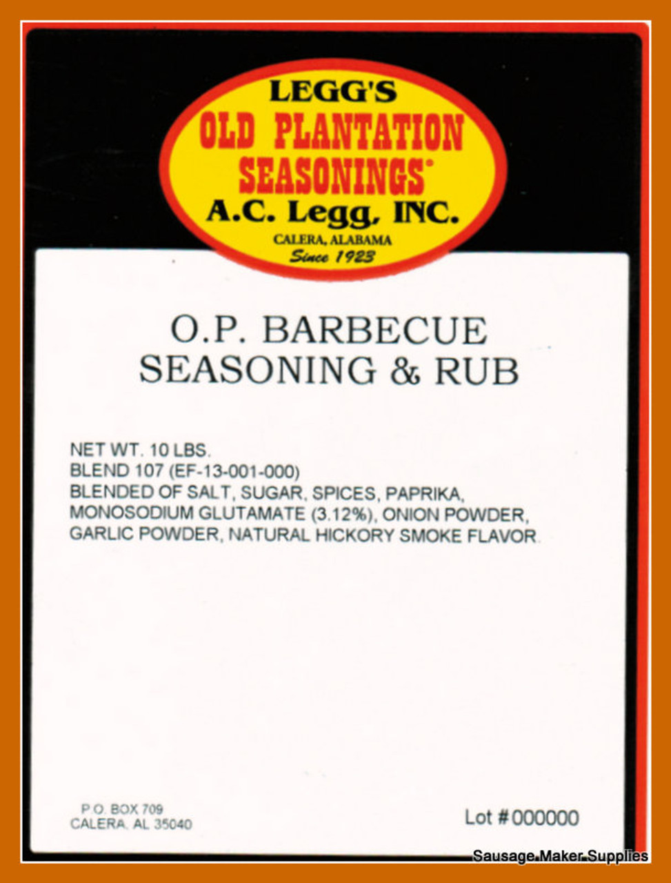 Barbecue Seasoning And Rub Blend 107 This blend of seasonings can be either sprinkled on meat after it is cooked, or used ahead of cooking as a marinade.