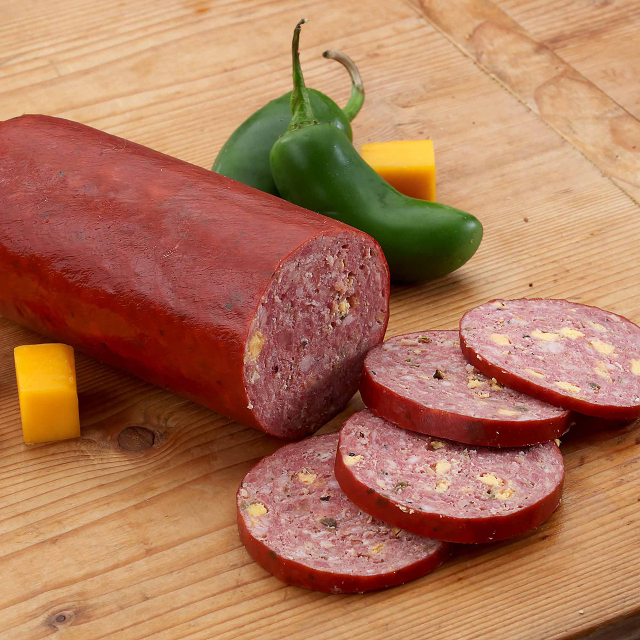 #189 - Jalapeño Summer Sausage Seasoning - Old world  flavors of garlic, and other spices – including diced Jalapeño! - with a hint of heat. Add cheese for a perfect combo! - A.C. LEGG OLD PLANTATION