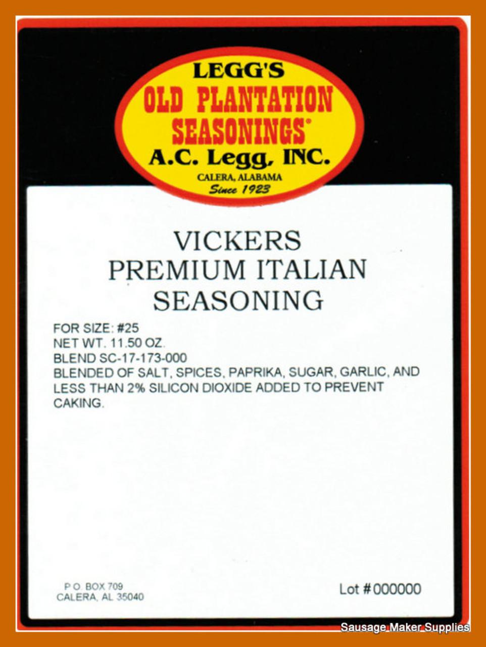 Vickers Premium Italian Sausage Seasoning