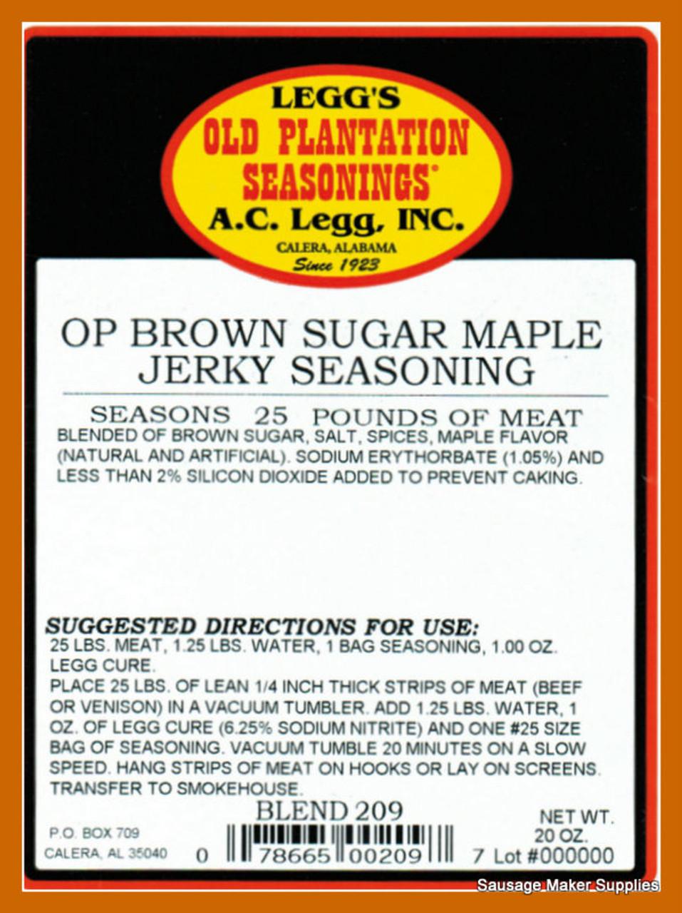 Brown Sugar Maple Jerky Seasoning