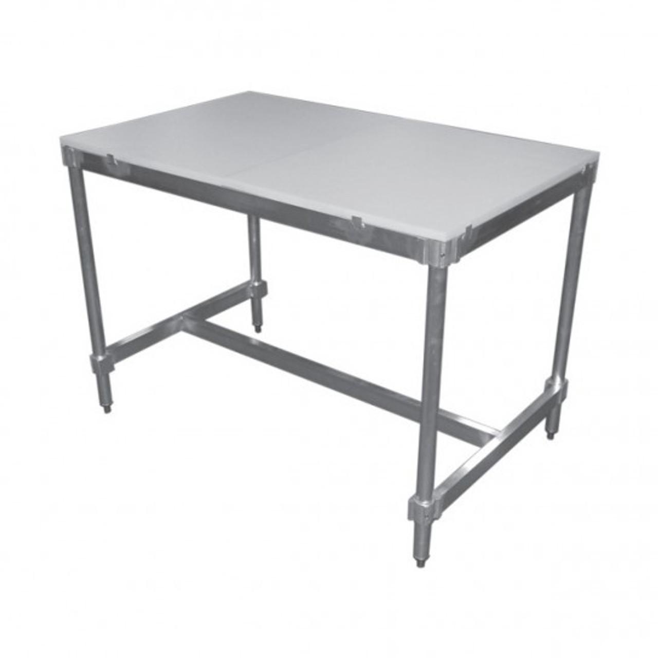 "Poly Top Tables without Backsplash Item length 48"""