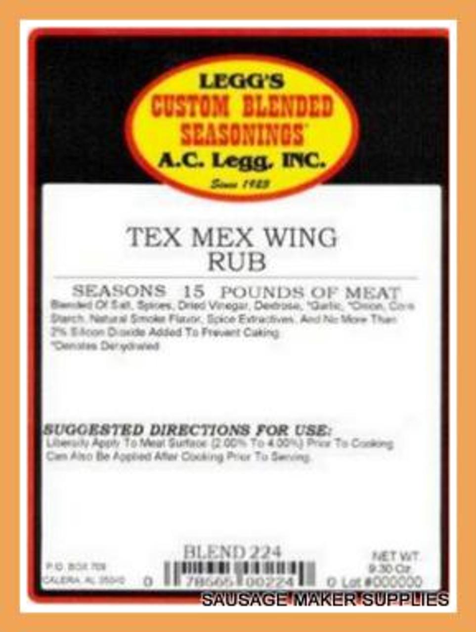 AC LEGG OLD PLANTATION TEX MEX WING RUB BLEND 224