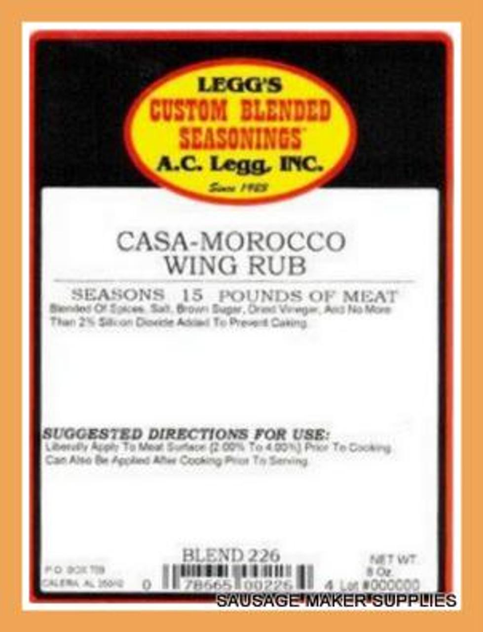 AC LEGG OLD PLANTATION CASA-MOROCCO WING RUB