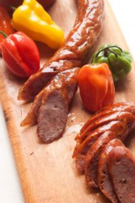 A.C.LEGG Smoked Andouille Blend 163  Full bodied Cajun including several peppers, garlic, onion and hints of herbs makes this andouille stand above the rest. A great addition to a processors line of cured, smoked, and fully cooked sausages.