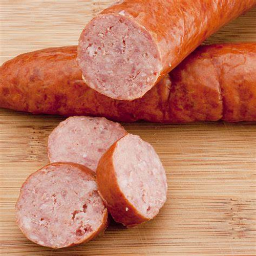 "A.C. LEGG OLD PLANTATION Smoked Sausage Blend 105  This blend is used to produce a ""Southern Style"" smoked sausage. It contains some crushed red pepper for visibility in the finished product."